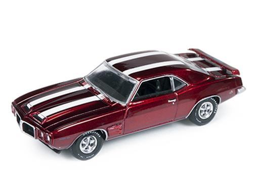 Pontiac: Firebird Trans Am (1969) - Vermelho Metálico - Vintage Muscle - 1:64