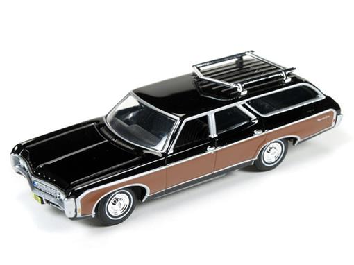 Chevrolet: Kingswood Estate (1969) - Preto - Muscle Wagons - 1:64