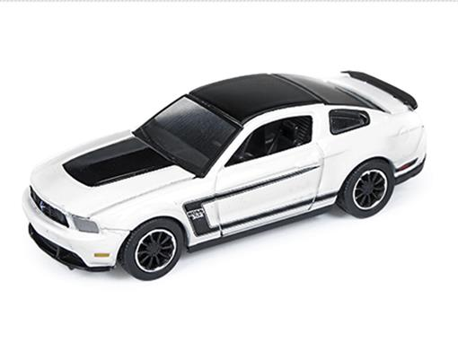 Ford: Mustang Boss 302 (2012) - Branco - Car and Driver - 1:64