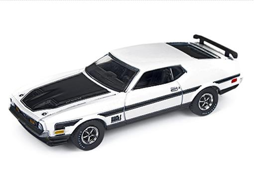 Ford: Mustang Mach 1 (1971) - Branco - Car and Driver - 1:64
