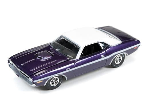 Dodge: Challenger R/T (1970) - Roxo - Muscle Machines - 1:64