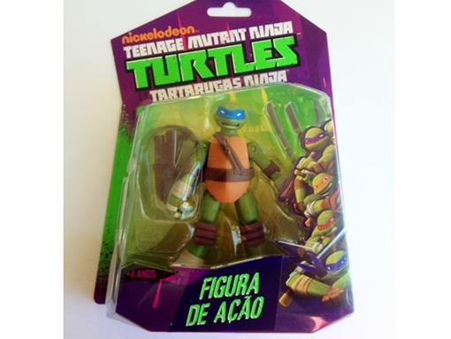 Boneco Leonardo - Tartarugas Ninja - Nickelodeon - Figura de Ação - MultiKids 12cm