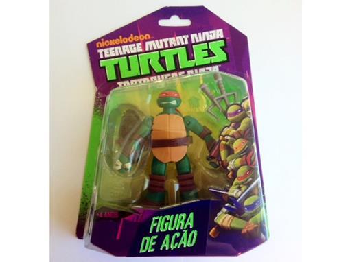 Boneco Raphael - Tartarugas Ninja - Nickelodeon - Figura de Ação - MultiKids 12cm