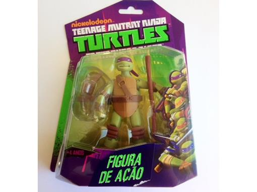 Boneco Donatello - Tartarugas Ninja - Nickelodeon - Figura de Ação - MultiKids 12cm
