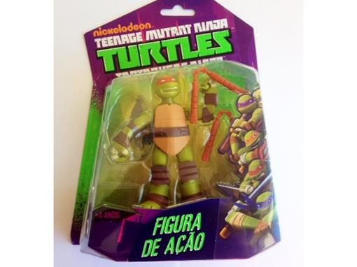 Boneco Michelangelo - Tartarugas Ninja - Nickelodeon - Figura de Ação - MultiKids 12cm