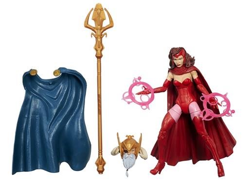 Boneco Maidens Of Might Scarlet Wicth - Build a Figure The Allfather - Marvel Legends - Hasbro