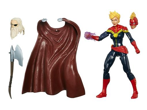 Boneco Maidens Of Might Capitain Marvel - Build a Figure The Allfather - Marvel Legends - Hasbro