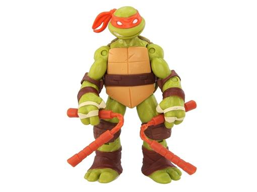 Boneco Michelangelo - Tartarugas Ninja - Nickelodeon - Figura de Ação II - MultiKids 12cm