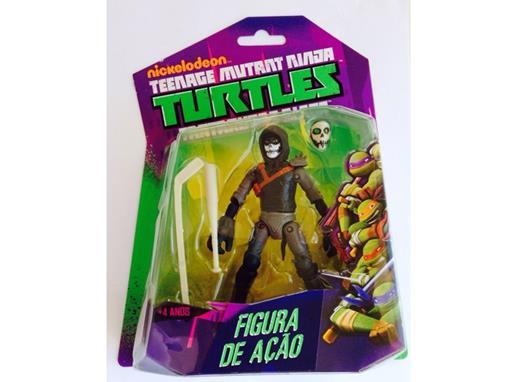 Boneco Casey Jones - Tartarugas Ninja - Nickelodeon - Figura de Ação - MultiKids 12cm