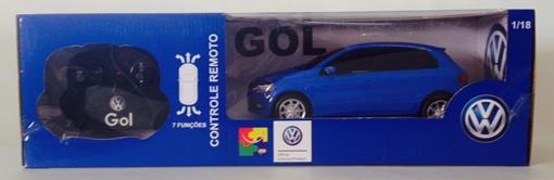 Volkswagen: Gol - Azul - Controle Remoto - 1:18