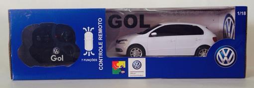 Volkswagen: Gol - Branco - Controle Remoto - 1:18