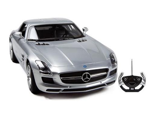 Mercedes Benz: SLS AMG - Prata - Controle Remoto - 1:14
