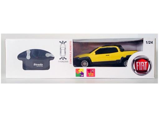 Fiat: Strada Adventure - Amarelo - Controle Remoto - 1:24