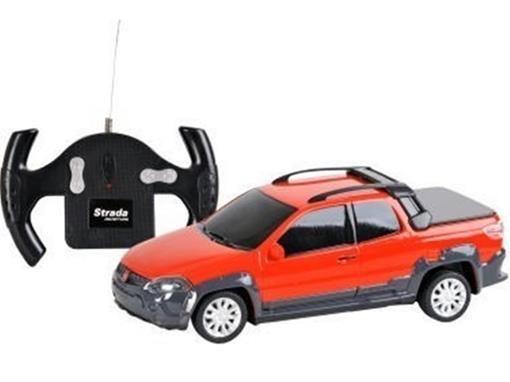 Fiat: Strada Adventure - Vermelho - Controle Remoto - 1:24