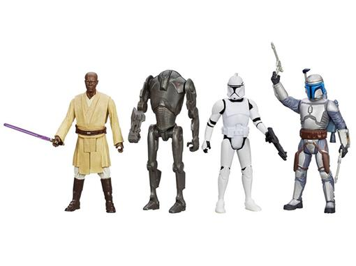 Pack c/ 4 Figuras - Star Wars Episode II