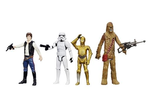Pack c/ 4 Figuras - Star Wars Episode IV