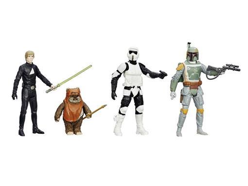 Pack c/ 4 Figuras - Star Wars Episode VI