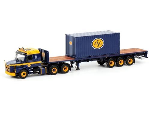 Scania: T113/T143 Torpedo 6x2 Prancha c/ 20 FT Container -