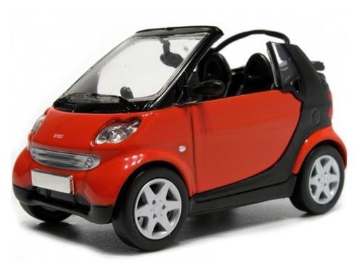 Smart: City Cabrio - Vermelho - 1:43