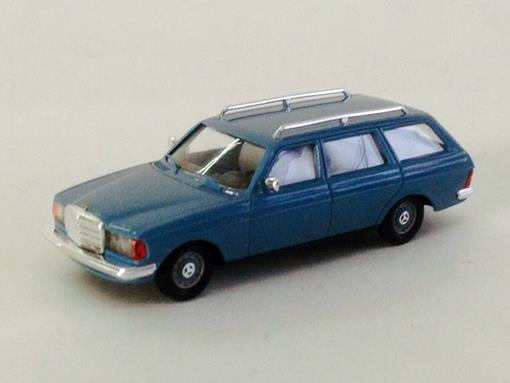 Mercedes Benz: W 123 T-Modell (1977) - Azul - HO