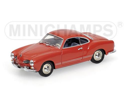 Volkswagen: Karmann Ghia Coupé (1966) - Vermelho - 1:43