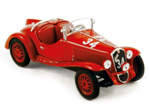 Fiat: Balilla Sport (1937) - Mille Miglia - Vermelho - 1:43