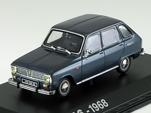 Renault: 6 (1968) - Azul Metálico - 1:43