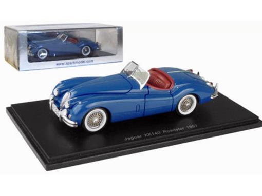 Jaguar: XK140 Roadster (1957) - Azul - 1:43