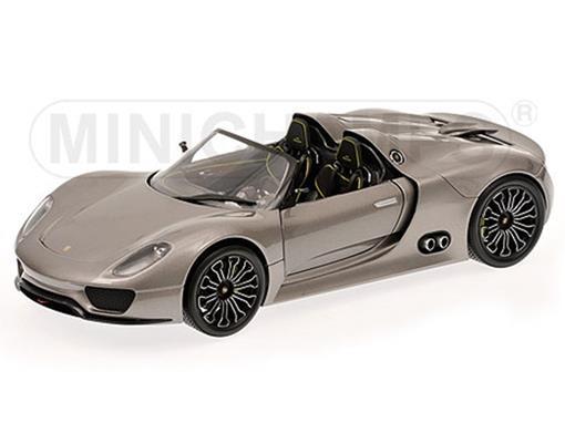 Porsche: 918 Spyder (2010) - Cinza Metálico - 1:18