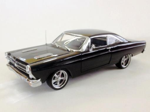 Ford: Fairlane 5.0 (1966) - Preto - 1:18