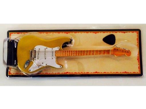Miniatura de Guitarra Stratocaster - Dourada (Blister) - 1:4