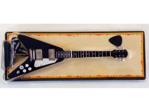 Miniatura de Guitarra Flying V - Preta - (Blister) - 1:4