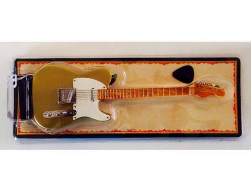 Miniatura de Guitarra Telecaster - Dourada - (Blister) - 1:4