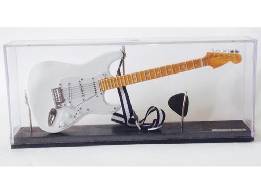 Miniatura de Guitarra Stratocaster - Branca (Acrilico) - 1:4