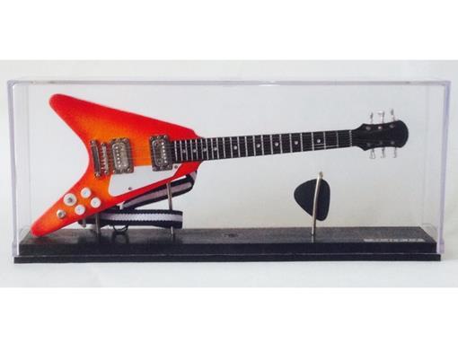 Miniatura de Guitarra Flying V - Cereja - (Acrílico) - 1:4