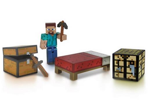 Boneco Steve - Survival Pack - Minecraft - Multikids
