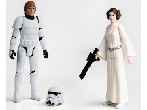 Bonecos Princesa Leia / Luke Skywalker - Star Wars Rebels - Episode IV - 3.75