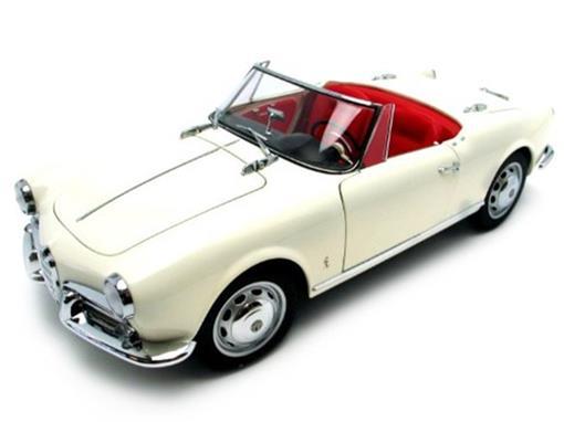 Alfa Romeo: Giulietta 1300 Spider (1957) - Branco - 1:18