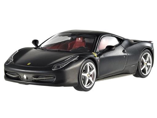 Ferrari: 458 Italia - Preta - 1:43 - Hot Wheels Elite