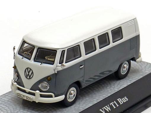 Volkswagen: Kombi T1 Bus - Cinza/Branco - 1:43