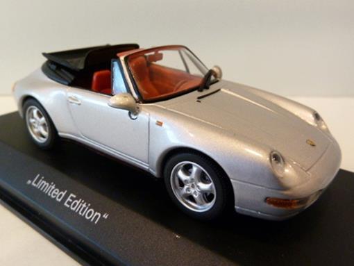Porsche: 911 Carrera Cabriolet  (Typ 993) (1994) - Prata - 1:43