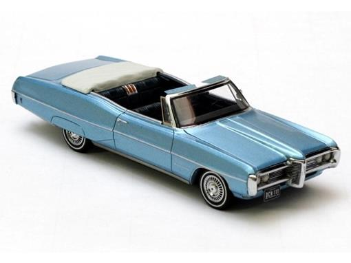 Pontiac: Bonneville Conversível (1968) - Azul - 1:43