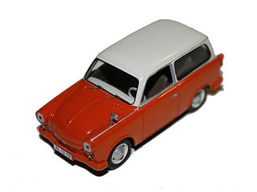 Trabant: P50 Kombi (1959) - Laranja/Creme - 1:43