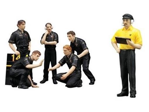 Set c/6 Figuras F1 Pit Crew Figurines - JPS Team Lotus (1977) - 1:18