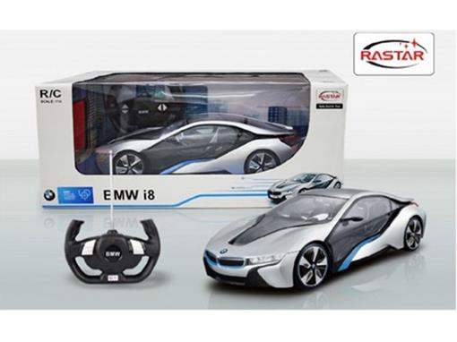 BMW: i8 - Controle Remoto - Prata - 1:14