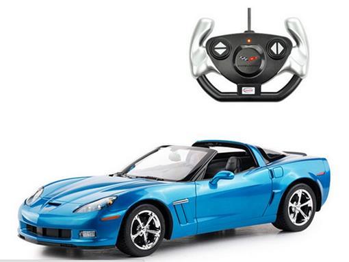 Chevrolet: Corvette C6 GS - Controle Remoto - Azul Metálico - 1:12