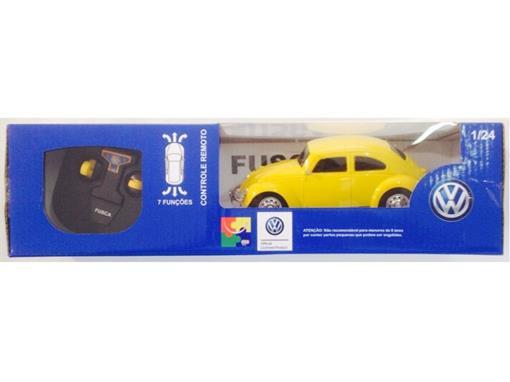 Volkswagen: Fusca - Controle Remoto - Amarelo - 1:24