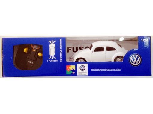 Volkswagen: Fusca - Controle Remoto - Branco - 1:24