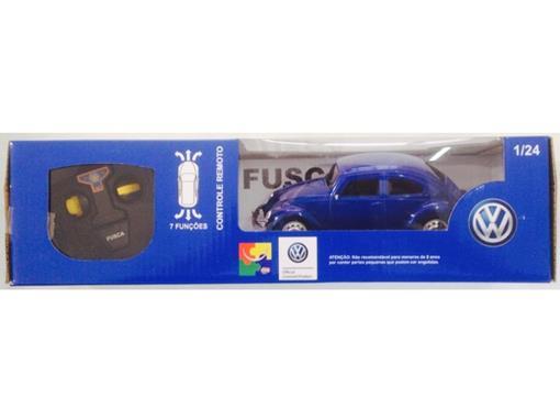 Volkswagen: Fusca - Controle Remoto - Azul - 1:24