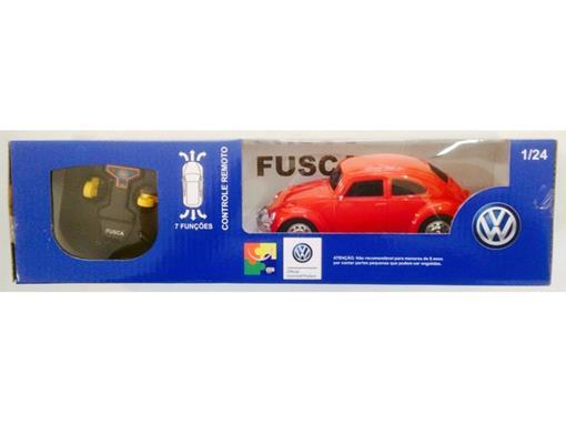 Volkswagen: Fusca - Controle Remoto - Vermelho - 1:24